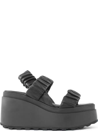 Vic Matié Sandals In Black Nappa Calfskin
