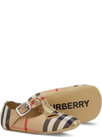 Burberry Vintage Check-print Crib Shoes