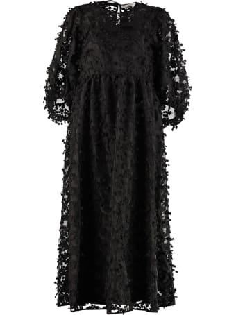 Cecilie Bahnsen Karmen Dress With Floral Applications