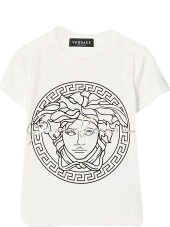Young Versace White T-shirt With Print