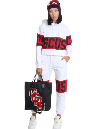 GCDS Sweatshirt In White Cotton