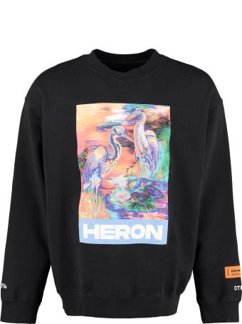 HERON PRESTON Cotton Crew-neck Sweatshirt