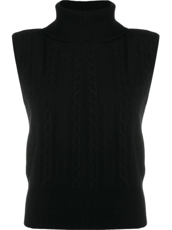 Federica Tosi Wool And Cashmere High Neck Sleeveless Top 85%wool, 15% Cachemire