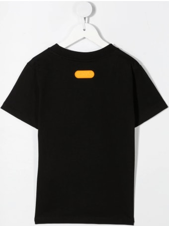 GCDS Mini Orange Logo-printed T-shirt