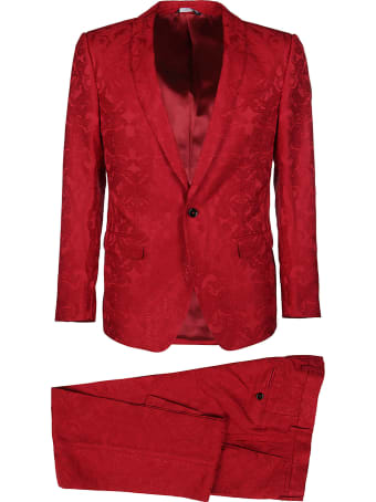 Dolce & Gabbana Red Two-piece Suit