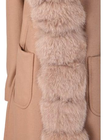 Violanti camel cashmere coat