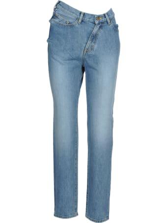 Facetasm Facetasm Twisted High-rise Denim Jeans