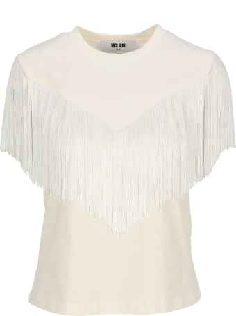MSGM Fringed T-shirt