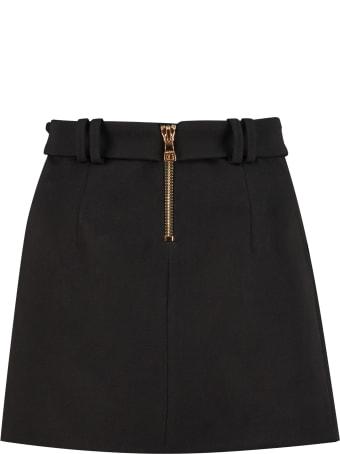 Balmain Wool Mini Skirt