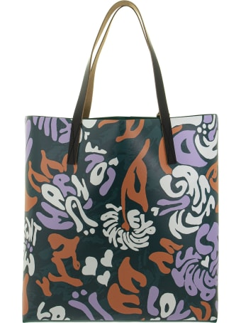 Marni Shopping Bag In Printed Tech