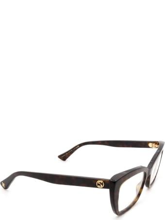 Gucci Gucci Gg0165o Havana Glasses
