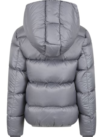 Colmar Grey Jacket For Kids With Logo