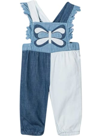 Stella McCartney Kids Dungarees In Denim