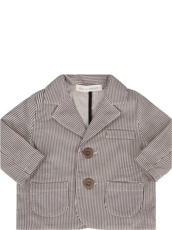 Zhoe & Tobiah White And Blue Babyboy Jacket