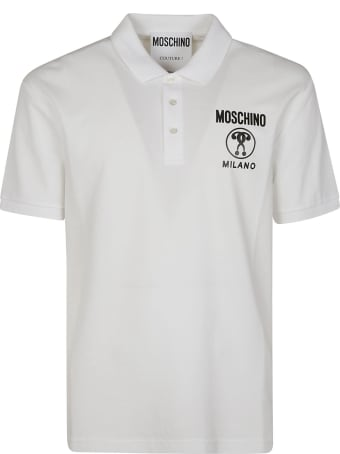 Moschino Milano Chest Print Polo Shirt