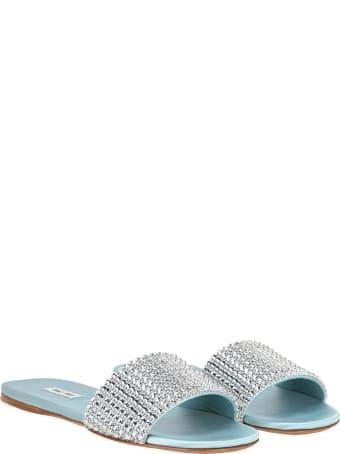 Miu Miu Crystal-embellished Flat Sandals