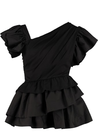 Alexander McQueen Ruffled Cotton Blouse