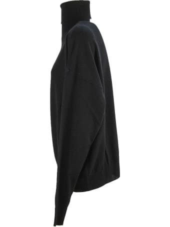 Laneus Black Merino Cashmere Blend Jumper