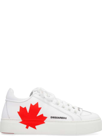 Dsquared2 Leather Platform Sneakers