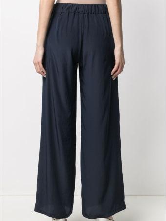 Parosh Wide Leg Abotay Blue Trousers