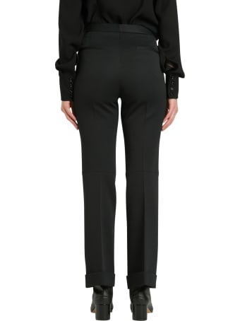 Maison Margiela Canvas Poly Cropped Mini Flare Trousers 100%polyester