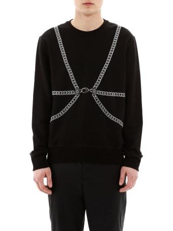 Alexander McQueen Chains Embroidery Sweatshirt