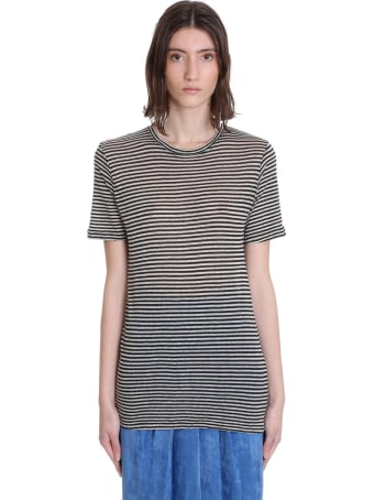 Isabel Marant Leon T-shirt In Beige Cotton