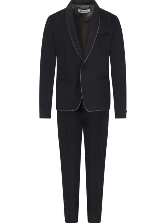 Dondup Blue Suit For Boy With Iconic D