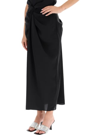 A.W.A.K.E. Mode Draped Skirt With Knots