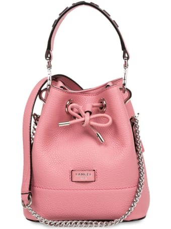 Lancel Grained Cow Leather Bucket Bag