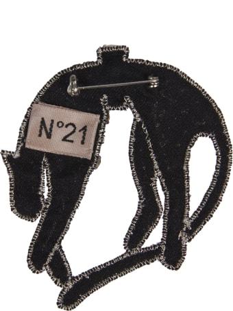 N.21 Crystal Embellished Brooch