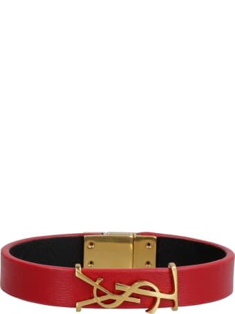 Saint Laurent Opyum Leather Bracelet