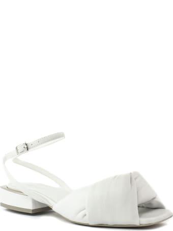 Vic Matié White Nappa Sandals