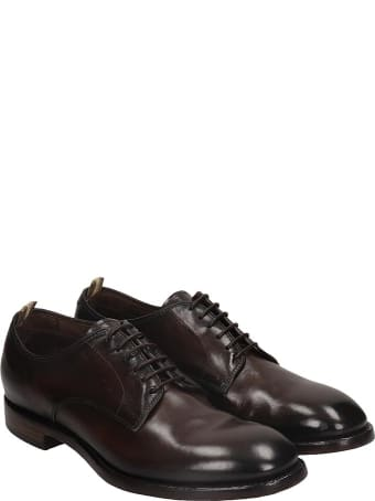 Officine Creative Emory 001 Lace Up Shoes In Black Leather