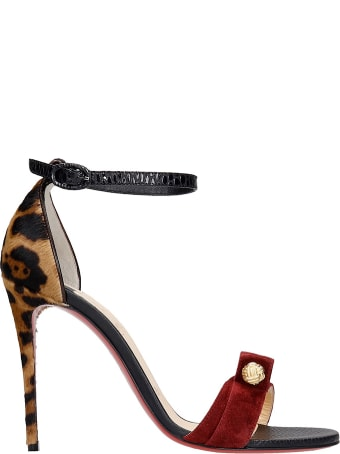Christian Louboutin Stanisandal 100 Sandals In Multicolor Synthetic Fibers