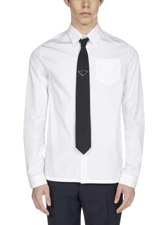 Prada Logo Cotton Shirt