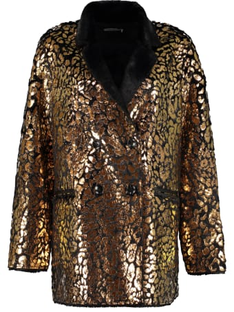 Mes Demoiselles Printed Faux Fur Coat