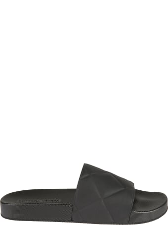 Bottega Veneta Matt Rubber Sliders