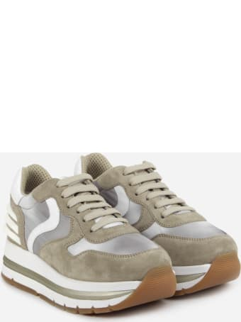 Voile Blanche Suede And Technical Fabric Sneakers With Contrasting Details