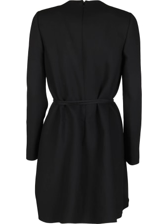 Valentino Black Virgin Wool Blend Dress