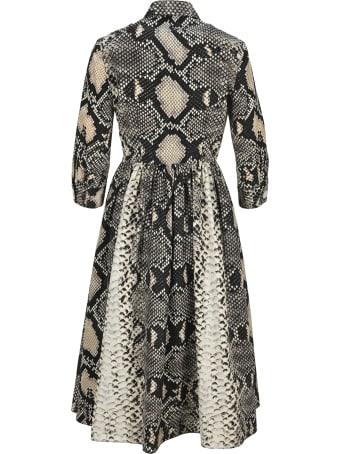 Prada Snake Print Midi Dress