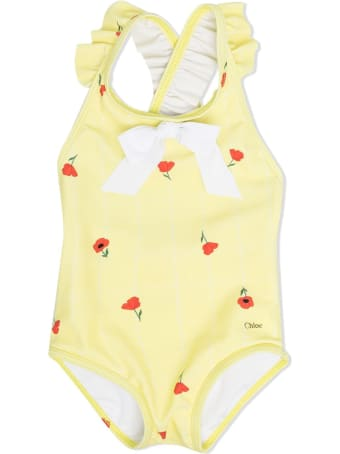 Chloé One Piece Swimsuit With Flowers