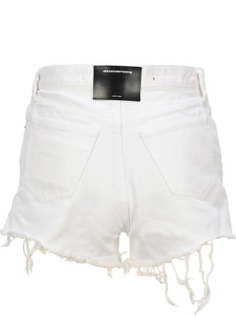 T by Alexander Wang Frayed Edges Shorts
