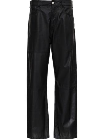 Trussardi 80s Black Kansas Leather Pants