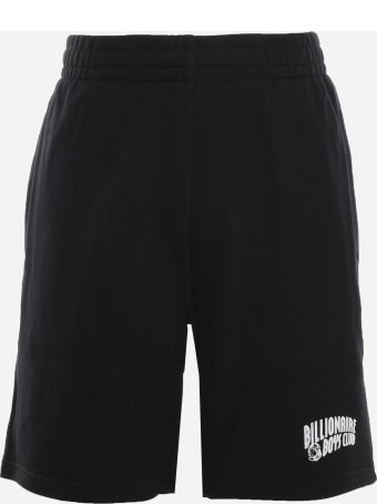 Billionaire Cotton Shorts With Logo Patch