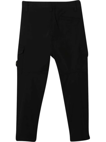 Stone Island Junior Black Cargo Trousers