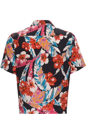 Saint Laurent Lyocell Multicolor Hawaiian Shirt
