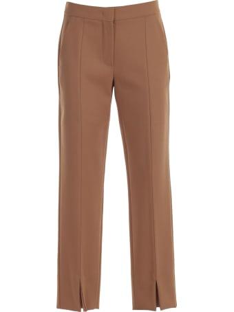 Max Mara Sassari Pants Crepe Wool W/slit In Front