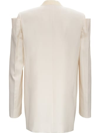 Givenchy Collarless Wool Blazer