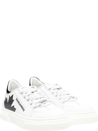 Dsquared2 White Sneakers Teen .